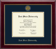 Kent State University Diploma Frame - Masterpiece Medallion Diploma Frame in Gallery