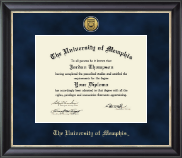 The University of Memphis Diploma Frame - Gold Engraved Medallion Diploma Frame in Noir