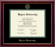 Baylor University Diploma Frame - Gold Embossed Diploma Frame in Gallery