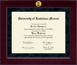 University of Louisiana Monroe Diploma Frame - Millennium Gold Engraved Diploma Frame in Cordova