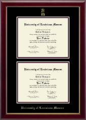 University of Louisiana Monroe Diploma Frame - Double Diploma Frame in Gallery