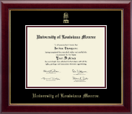 University of Louisiana Monroe Diploma Frame - Gold Embossed Diploma Frame in Gallery