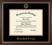 Tusculum College Diploma Frame - Gold Embossed Diploma Frame in Studio Gold