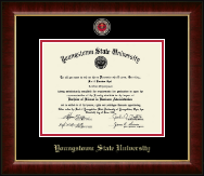 Youngstown State University Diploma Frame - Masterpiece Medallion Diploma Frame in Murano