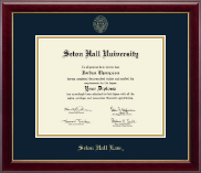 Seton Hall University Diploma Frame - Gold Embossed Diploma Frame in Gallery