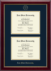 Kent State University Diploma Frame - Double Diploma Frame in Gallery