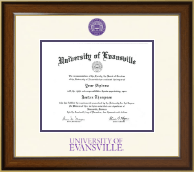 University of Evansville Diploma Frame - Dimensions Diploma Frame in Westwood