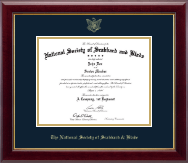 The National Society of Scabbard & Blade Certificate Frame - Gold Embossed Certificate Frame in Gallery