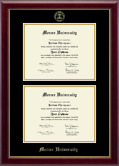Mercer University Diploma Frame - Double Diploma Frame in Gallery