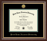 Point Loma Nazarene University Diploma Frame - Gold Engraved Medallion Diploma Frame in Hampshire