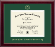 Point Loma Nazarene University Diploma Frame - Gold Embossed Diploma Frame in Gallery
