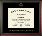 Point Loma Nazarene University Diploma Frame - Gold Embossed Diploma Frame in Studio