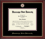Mississippi State University Diploma Frame - Masterpiece Medallion Diploma Frame in Kensington Gold