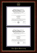 New York University Diploma Frame - Double Diploma Frame in Murano