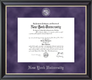 New York University Diploma Frame - Regal Edition Diploma Frame in Noir