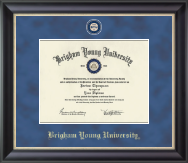 Brigham Young University Utah Diploma Frame - Regal Edition Diploma Frame in Noir