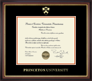 Princeton University Diploma Frame - Gold Embossed Diploma Frame in Regency Gold