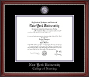 New York University Diploma Frame - Masterpiece Medallion Diploma Frame in Kensington Silver