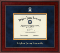 Brigham Young University Utah Diploma Frame - Presidential Masterpiece Diploma Frame in Jefferson