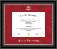 Seattle University Diploma Frame - Regal Edition Diploma Frame in Noir