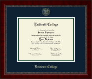 Endicott College Diploma Frame - Gold Embossed Diploma Frame in Sutton
