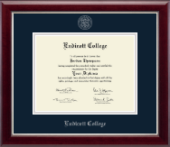 Endicott College Diploma Frame - Silver Embossed Diploma Frame in Gallery Silver