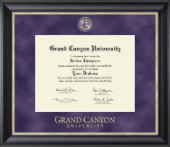 Grand Canyon University Diploma Frame - Regal Edition Diploma Frame in Noir
