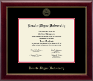 Lenoir-Rhyne University Diploma Frame - Gold Embossed Diploma Frame in Gallery