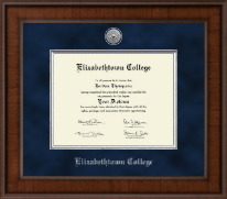 Elizabethtown College Diploma Frame - Presidential Silver Engraved Diploma Frame in Madison