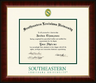 Southeastern Louisiana University Diploma Frame - Dimensions Diploma Frame in Murano