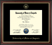 University of Maine at Augusta Diploma Frame - Gold Embossed Diploma Frame in Studio Gold