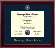 University of Maine at Augusta Diploma Frame - Gold Embossed Diploma Frame in Gallery