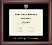 Grand Canyon University Diploma Frame - Masterpiece Medallion Diploma Frame in Kensington Gold