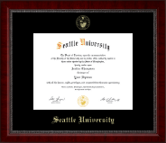 Seattle University Diploma Frame - Gold Embossed Diploma Frame in Sutton