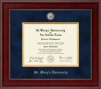 St. Mary's University Diploma Frame - Presidential Masterpiece Diploma Frame in Jefferson