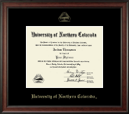 University of Northern Colorado Diploma Frame - Gold Embossed Diploma Frame in Studio