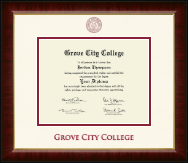 Grove City College Diploma Frame - Dimensions Diploma Frame in Murano