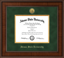Adams State University  Diploma Frame - Presidential Gold Engraved Diploma Frame in Madison