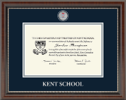 Kent School in Connecticut Diploma Frame - Masterpiece Medallion Diploma Frame in Chateau