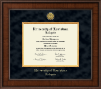 University of Louisiana Lafayette Diploma Frame - Presidential Gold Engraved Diploma Frame in Madison