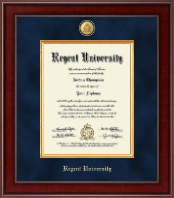Regent University Diploma Frame - Presidential 23K Medallion Diploma Frame in Jefferson