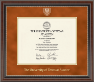 The University of Texas Austin Diploma Frame - Masterpiece Medallion Diploma Frame in Chateau