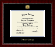 Ithaca College Diploma Frame - Gold Engraved Medallion Diploma Frame in Sutton