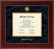 Mitchell College Diploma Frame - Presidential Gold Engraved Diploma Frame in Jefferson