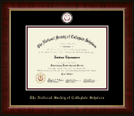 The National Society of Collegiate Scholars Certifcate Frame - Masterpiece Medallion Certificate Frame in Murano