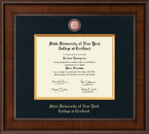 State University of New York Cortland Diploma Frame - Presidential Masterpiece Diploma Frame in Madison