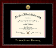 Northern Illinois University Diploma Frame - Gold Engraved Medallion Diploma Frame in Sutton