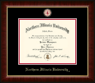 Northern Illinois University Diploma Frame - Masterpiece Medallion Diploma Frame in Murano