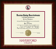 Haverford College Diploma Frame - Dimensions Diploma Frame in Murano
