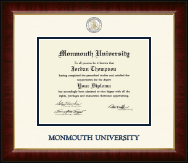 Monmouth University Diploma Frame - Dimensions Diploma Frame in Murano